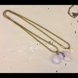 Express Necklace Ball Chain with Drop Crystal